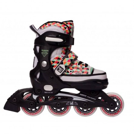 patines-extensibles-krf-canvas-diamond-naranja