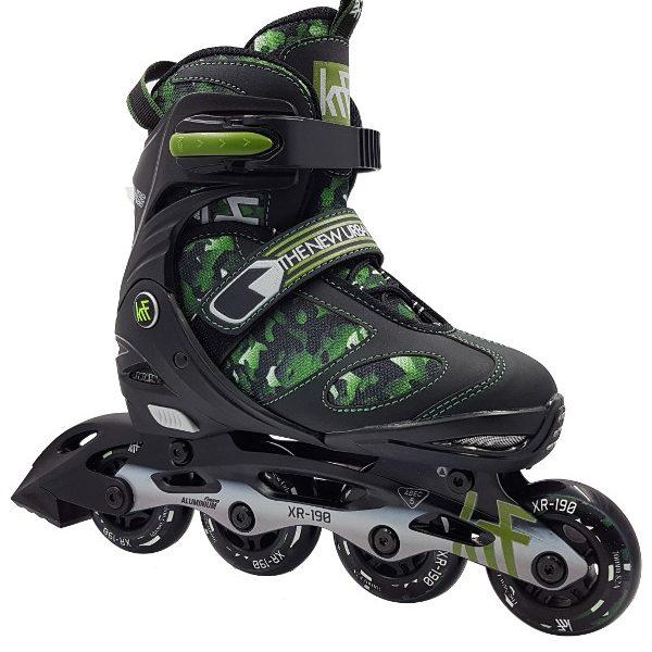 patines-krf-extensibles-camuflaje-verde-fitness-niño